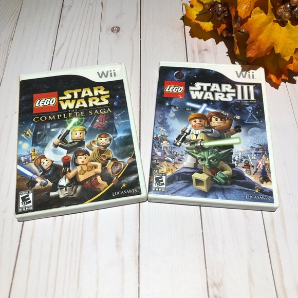 Nintendo Other - Bundle of 2 Pre Owned wii Lego Star Wars Games
